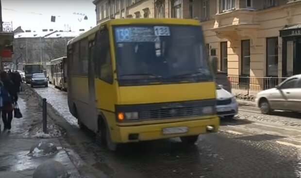 маршрутка, скриншот с видео