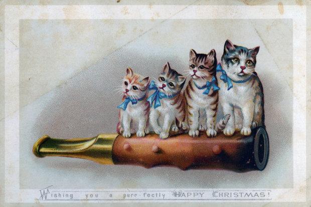 Веселі гноми, біс на машині і запряжені свині: ці різдвяні листівки з минулого зведуть вас з розуму