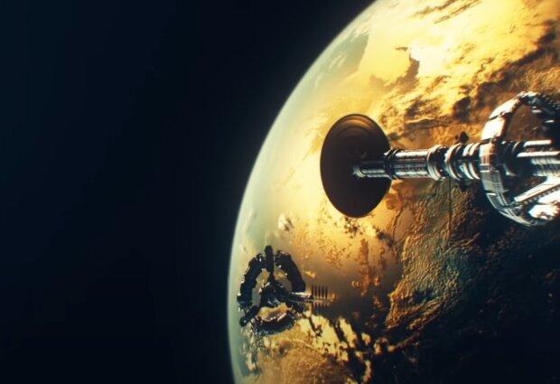 Скрін, відео YouTube космос