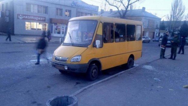 Розлючений пасажир у Макіївці кинув гранату в маршрутку (фото)