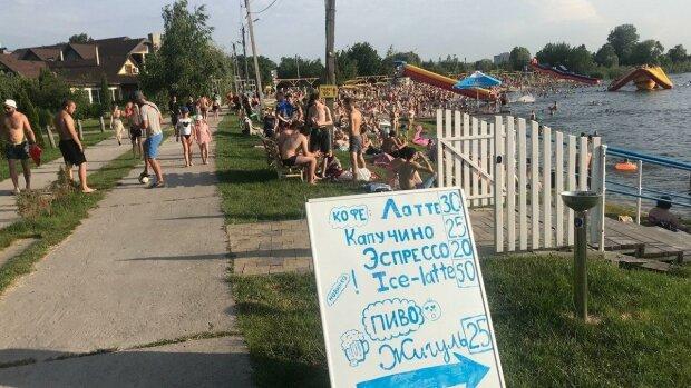 На пляжі, фото: телеграм-канал Perepichka News