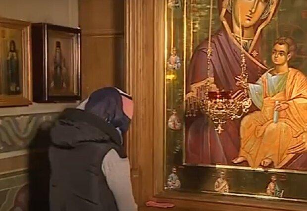 Ікона Богородиці, кадр з відео, зображення ілюстративне: YouTube