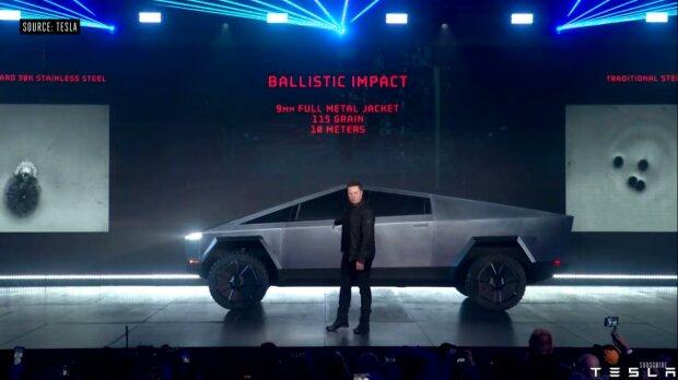 Tesla Cybertruck, скриншот с видео