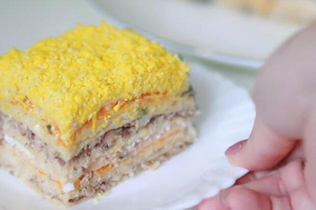 Торт Мімоза, кадр з відео