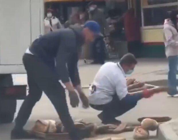 Доставка хлеба, скриншот с видео