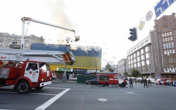 Появились фото последствий ужасного пожара в центре Киева