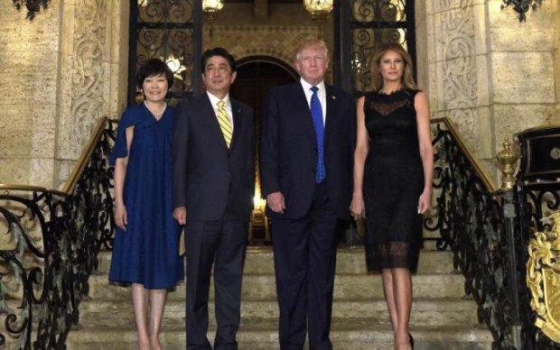 Don't speak English: первая леди Японии провела Трампа