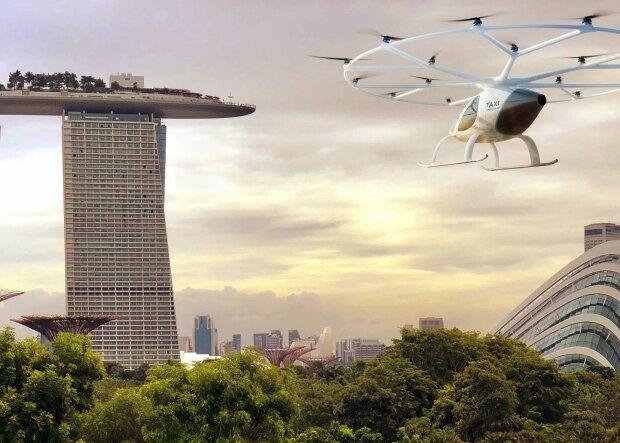 Volocopter представила'летающее такси: без пробок под 110 километров в час и главное ни единого ненавистного шума