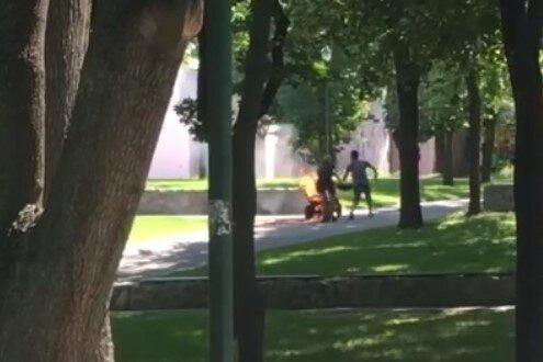 У Харкові квадроцикл спалахнув під дитиною - пекельні покатеньки потрапили на камеру