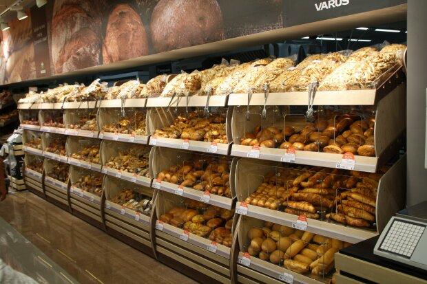 Хлеб в супермаркете, фото: prom-market.com.ua