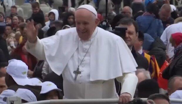 Папа Римський, кадр з відео, зображення ілюстративне: YouTube