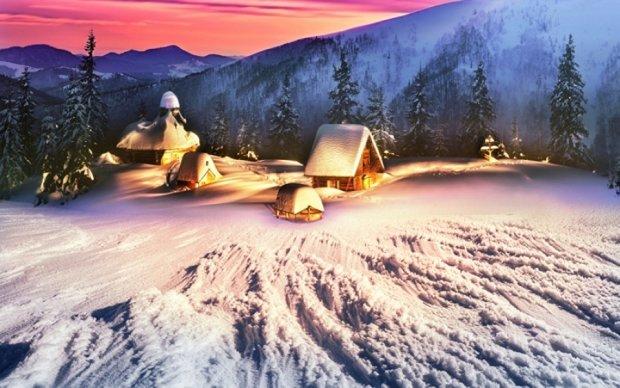Карпаты обильно засыпало снегом