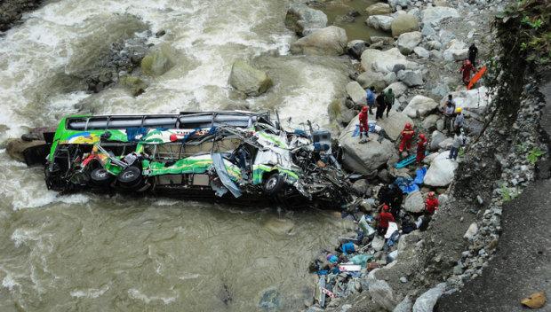 Моторошна ДТП сколихнула країну: переповнений автобус злетів з мосту, багато загиблих