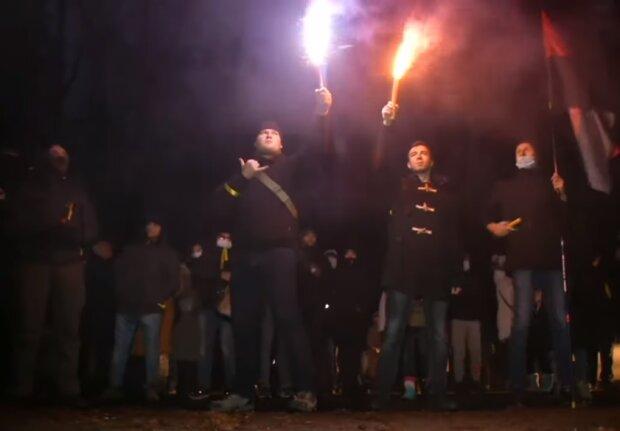Митинг в Феофании, скриншот видео