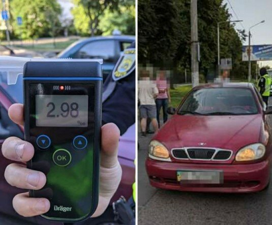 Пьяный водитель, фото Патрульная полиция Львовской области