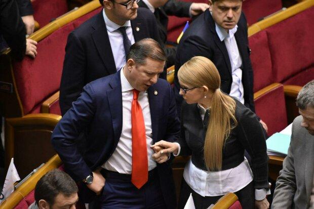 Олег Ляшко и Юлия Тимошенко, фото: strana.ua