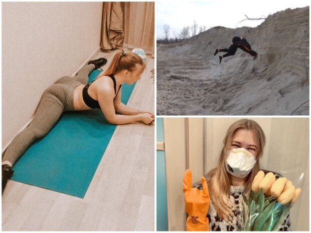 Екатерина Никитина из Женского Квартала, коллаж из Instagram фото