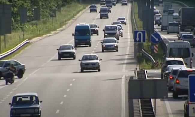 київські дороги, скріншот з відео