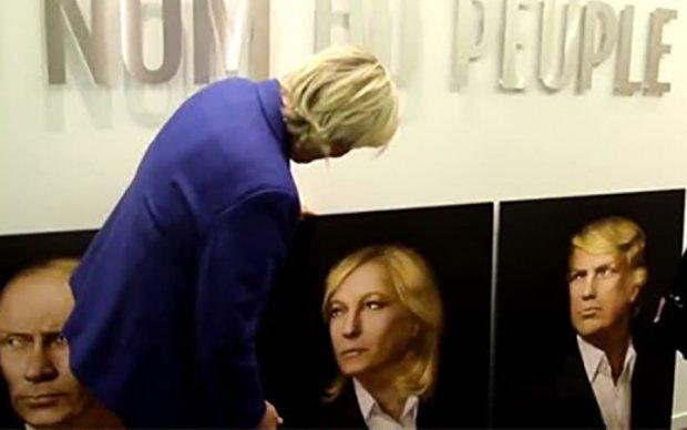 """Российские подхалимы подарили Ле Пен """"пророческий портрет"""""""