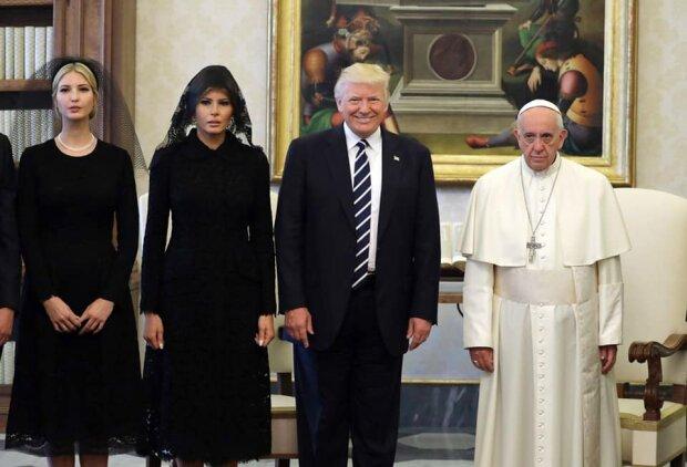 Дональд і Меланія Трамп у Ватикані