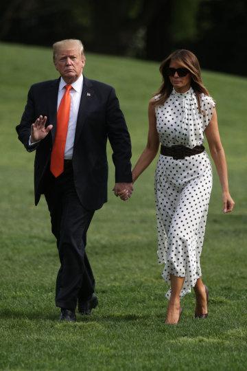 7e230d8283516 Меланія Трамп вразила світ стрункою фігурою у стильному вбранні