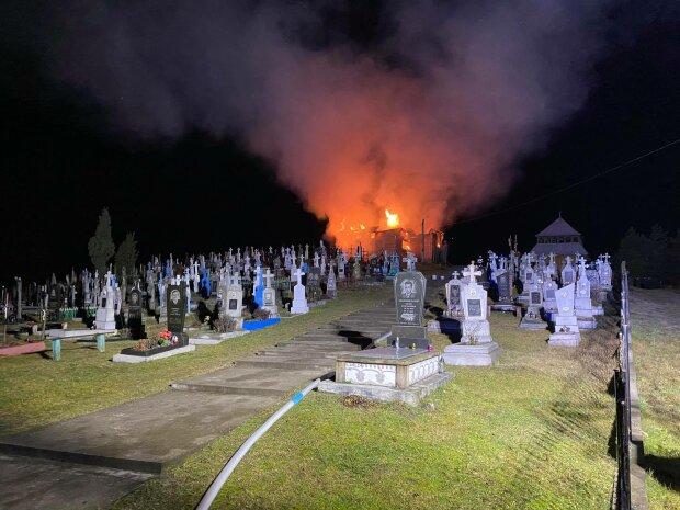 Пожар под Львовом, фото: ГСЧС