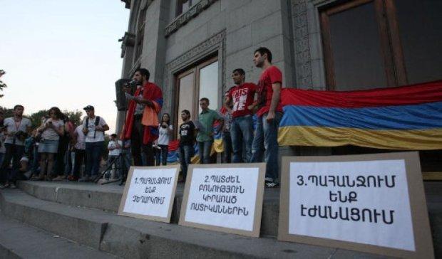 У Єревані поліція розігнала протестувальників