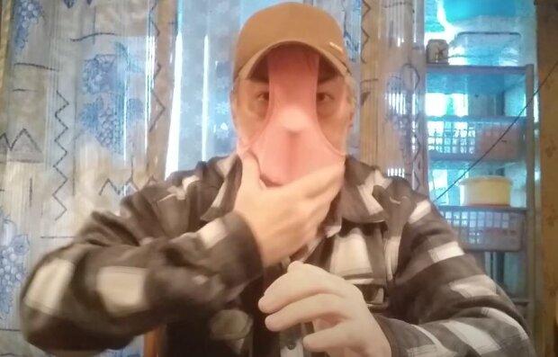 Креативна маска, скріншот: YouTube