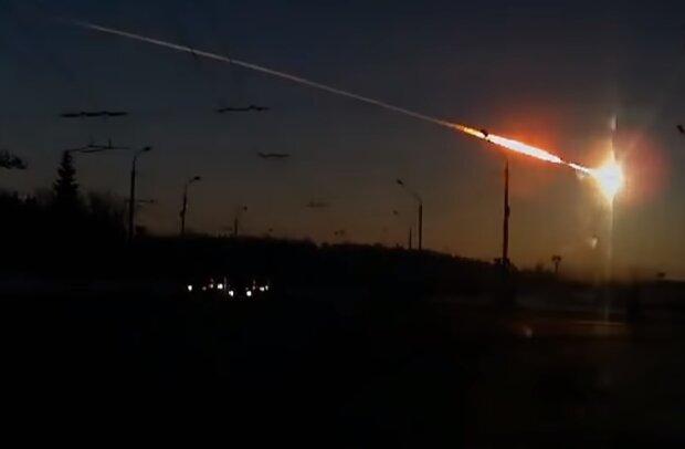 Челябинский метеорит, скриншот видео