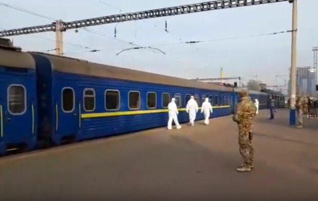 Спецпоїзд з Москви, фото: Інсайдер