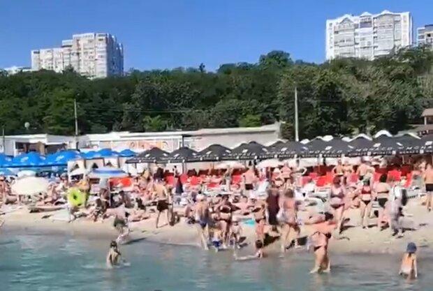 Пляжи Одессы, скриншот видео