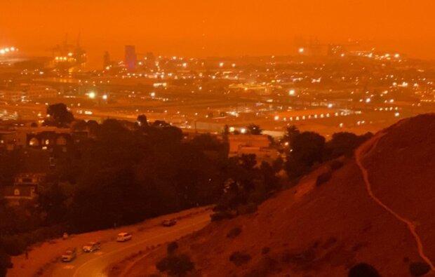 пожары в Калифорнии, фото с Twitter