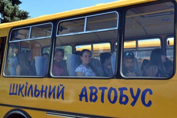 Школьный автобус во Львове