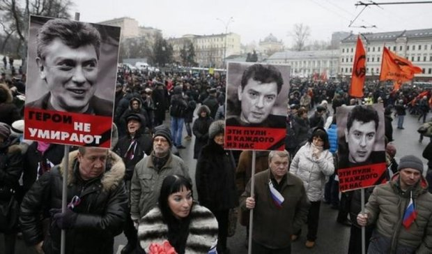Марши памяти Немцова завершились в Москве и Петербурге