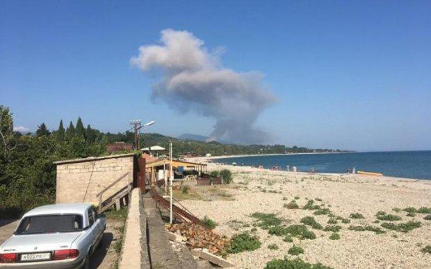 У мережі показали потужний вибух на складі боєприпасів в Абхазії