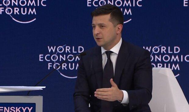 Владимир Зеленский в Давосе, скриншот видео