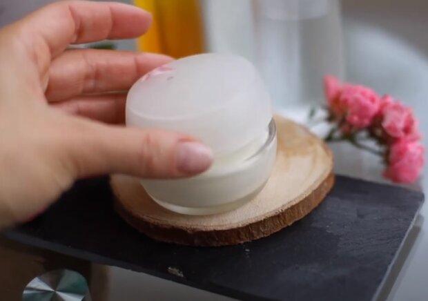 Домашний крем для лица, скриншот видео