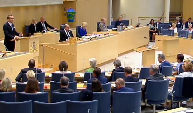 Шведський парламент, скріншот: YouTube