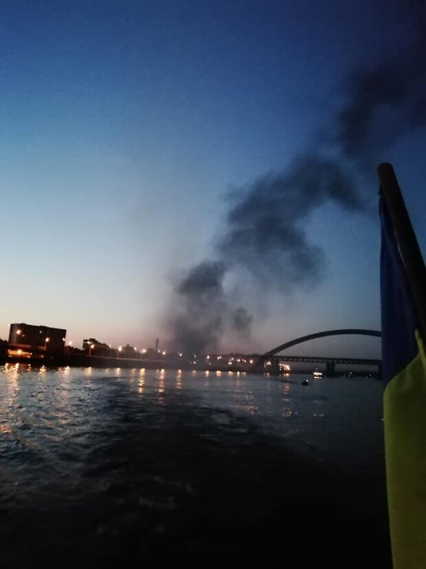 Пожежа на теплоході - фото зі сторінки Зінаїди Баглей, Фейсбук