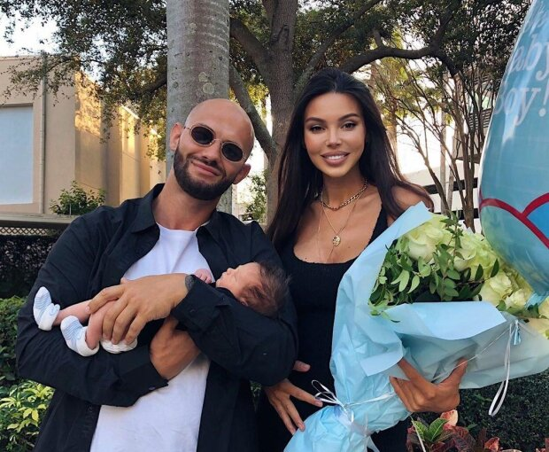 Джиган с женой и сыном, фото instagram/samoylovaoxana/