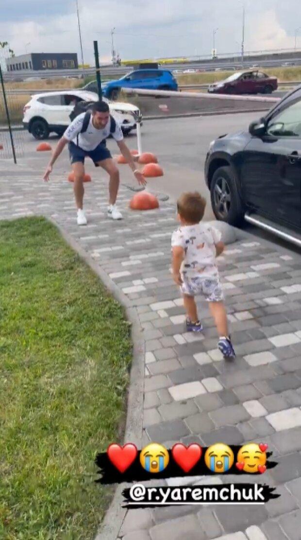 Роман Яремчук з сином, скріншот із відео
