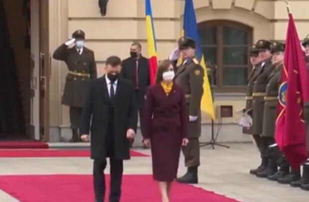Володимир Зеленський та Майя Санду, кадр з відео