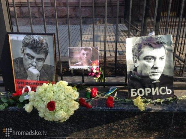 В Киеве тоже почтили память Немцова