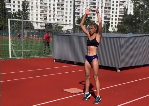 Юлия Левченко, скриншот из видео