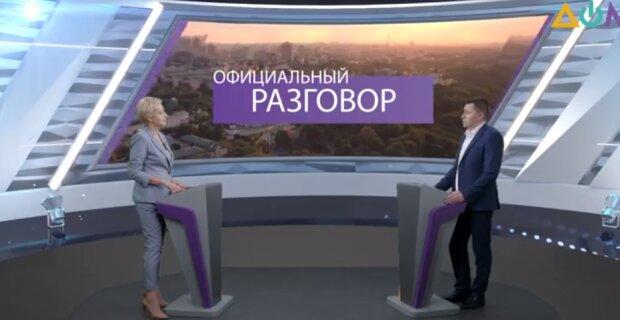 """В эфире """"Официального разговора"""", скриншот из видео"""