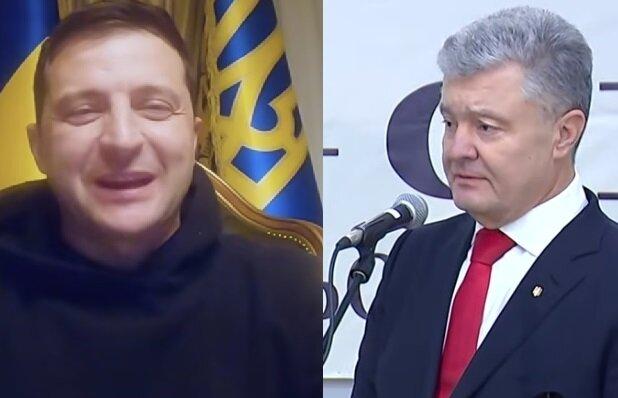 Зеленский и Порошенко поругались из-за нарушения карантина