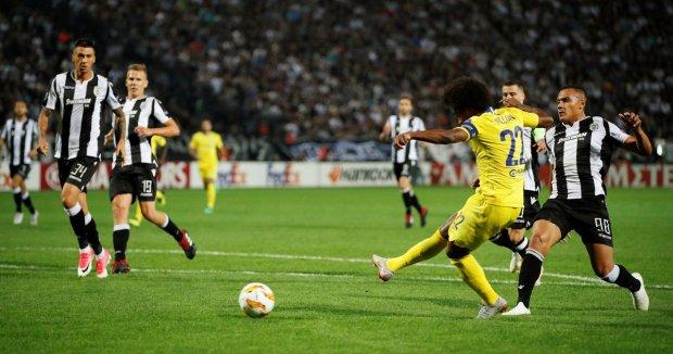 Ліга Європи: гол екс-зірки Шахтаря допоміг Челсі виграти у ПАОКа