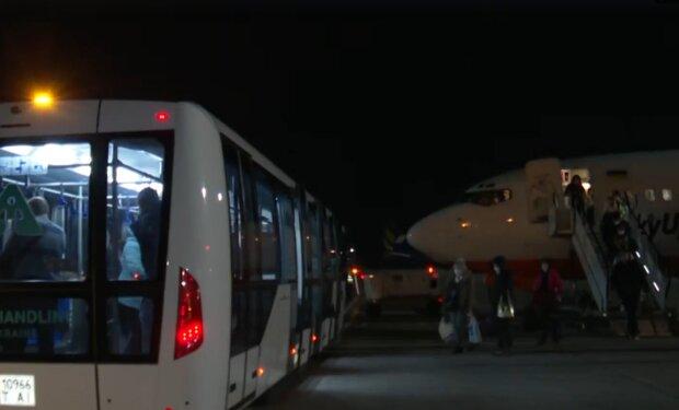 Літак з Італії, скріншот: ОП