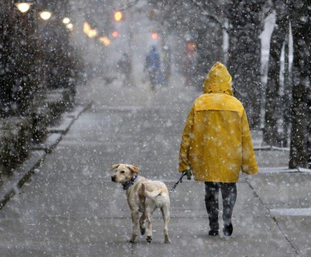 Погода на 27 березня: синоптик розповіла, кого засипле мокрим снігом, а кого заллє дощами