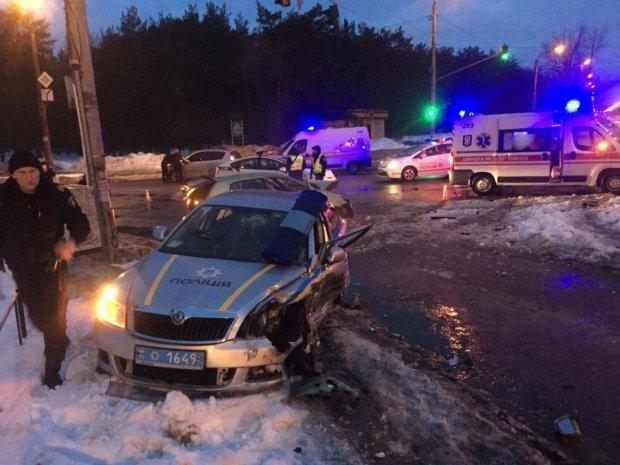 Копи зі стріляниною ганялися за п'яною автоледі по нічному Києву: фото